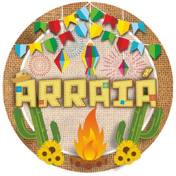 PAINEL REDONDO EM E.V.A E CARTONADO FESTA JUNINA - ARRAIA - PIFFER