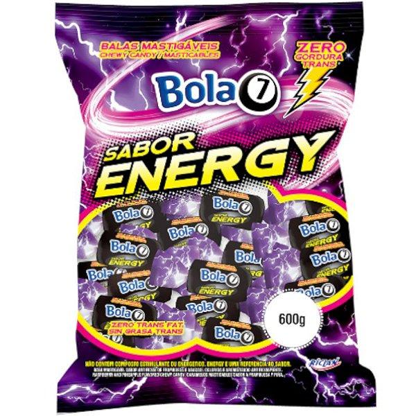 BALA MASTIGÁVEL SABOR ENERGÉTICO  ENERGY  - 600G COM APROX. 100 UNIDADES - RICLAN