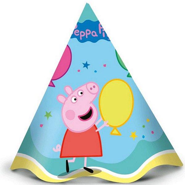 CHAPÉU FESTA PEPPA PIG CLÁSSICA - COM 12 UNIDADES - REGINA FESTAS