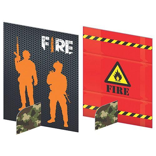 ENFEITES DE MESA - FESTA FREE FIRE - 05 UNIDADES - JUNCO