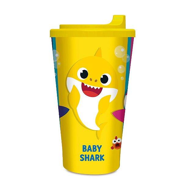 COPO PLÁSTICO INFANTIL 300ML FESTA BABY SHARK - 1 UNIDADE - CROMUS
