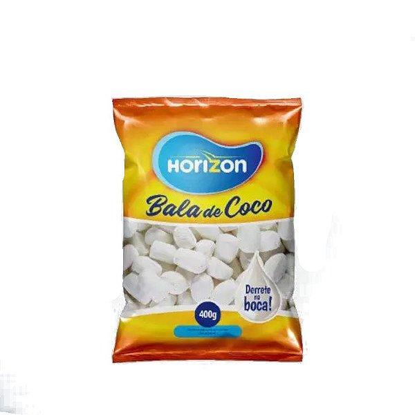 BALA DE COCO HORIZON - DERRETE NA BOCA - 400G - ROSA/BRANCO - HORIZON
