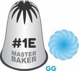 BICO DE CONFEITAR INOX PITANGA FLOR #1E TAM GG COD 2221 UN MASTER BAKER