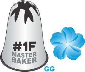 BICO DE CONFEITAR INOX PITANGA FLOR #1F TAM GG COD 2223 UN MASTER BAKER