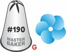 BICO DE CONFEITAR INOX PITANGA FLOR #190 TAM G COD 2224 UN MASTER BAKER