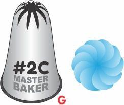 BICO DE CONFEITAR INOX PITANGA FLOR #2C TAM G COD 2249 UN MASTER BAKER