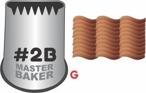 BICO DE CONFEITAR INOX SERRA/CESTA #2B TAM G COD 2254 UN MASTER BAKER