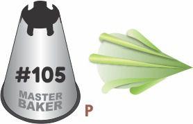 BICO DE CONFEITAR INOX ESPECIALIDADE #105 TAM P COD 2252 UN MASTER BAKER