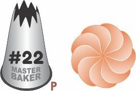BICO DE CONFEITAR INOX PITANGA ABERTA #22 TAM P COD 2234 UN MASTER BAKER