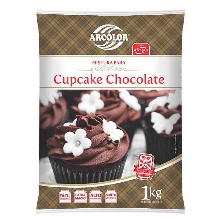 MISTURA PARA CUPCAKE DE CHOCOLATE 1 KG ARCOLOR