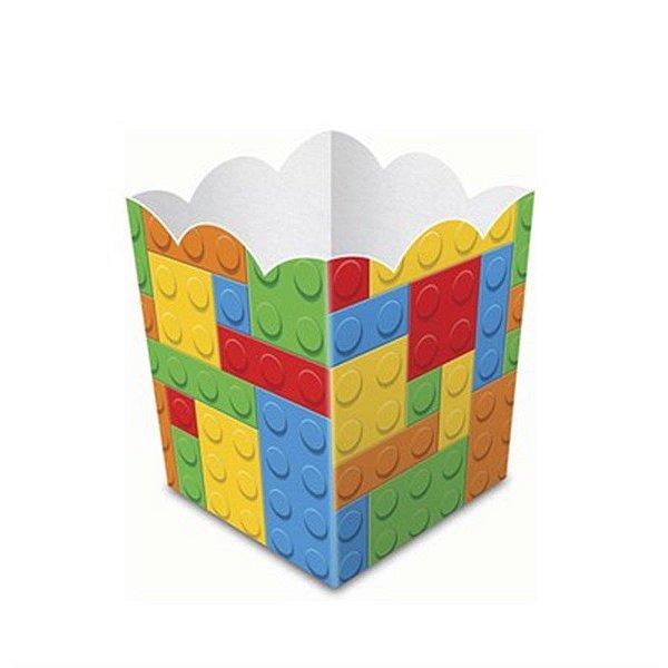 CACHEPOT PARA DOCES E SALGADOS FESTA LEGO 08 UNIDADES - JUNCO