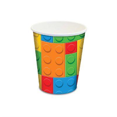 COPO DE PAPEL FESTA  LEGO BLOQUINHOS 180 ML - 8 UNIDADES - JUNCO