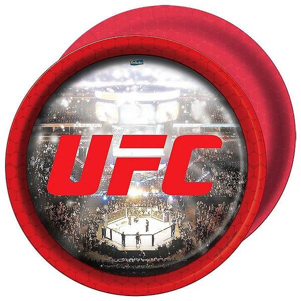 PRATO DESCARTÁVEL UFC 08 UNIDADES - FESTCOLOR
