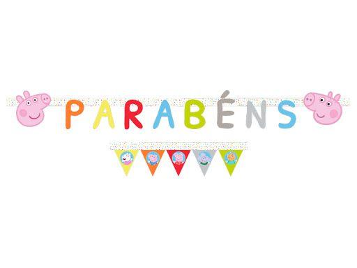FAIXA DE PARABÉNS FESTA PEPPA PIG BABY - REGINA FESTAS