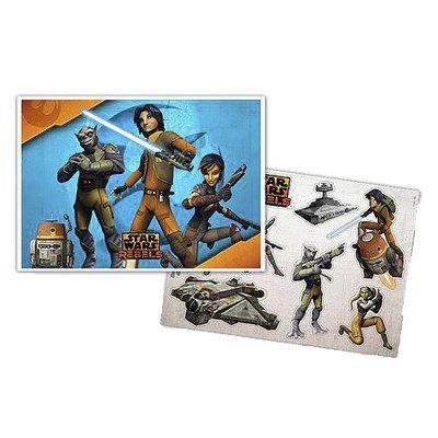 KIT DECORATIVO FESTA STAR WARS REBELS - 1 PAINEL DE 64CM X 45CM - 08 ENFEITES - REGINA FESTAS