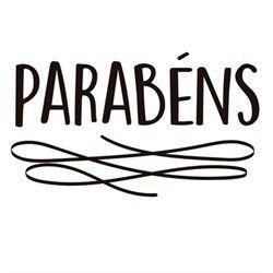 """TRANSFER PARA BALÃO -  PARABÉNS PRETO G - IDEAL PARA 20"""" A 36'' - CROMUS BALLOONS"""