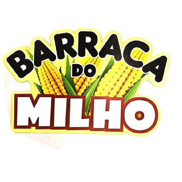 PAINEL DECORATIVO / PLACA DE SINALIZAÇÃO  BARRACA DO MILHO FESTA JUNINA - 01 UNIDADE - NC TOYS