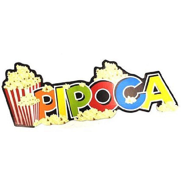 PAINEL DECORATIVO /  PLACA DE SINALIZAÇÃO BARRACA DE PIPOCA FESTA JUNINA - 01 UNIDADE  - NC TOYS