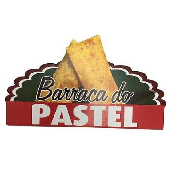 PAINEL DECORATIVO / PLACA DE SINALIZAÇÃO BARRACA DO PASTEL FESTA JUNINA - 01 UNIDADE - NC TOYS