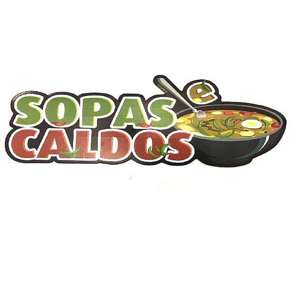 PAINEL DECORATIVO / PLACA DE SINALIZAÇÃO SOPAS E CALDOS - 01 UNIDADE - NC TOYS
