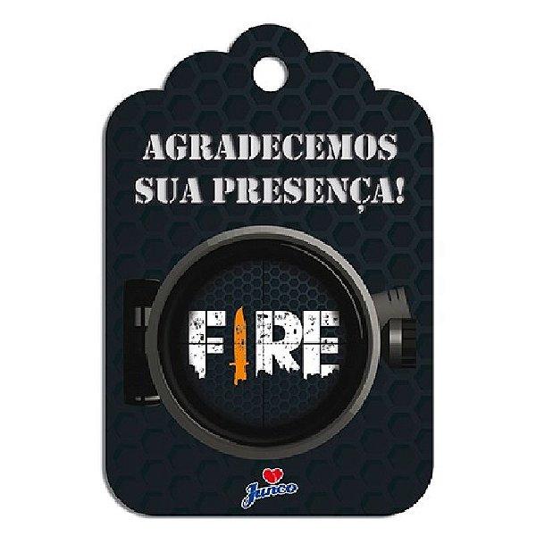 TAG DE AGRADECIMENTO FESTA FREE FIRE - COM 08 UNIDADES - JUNCO