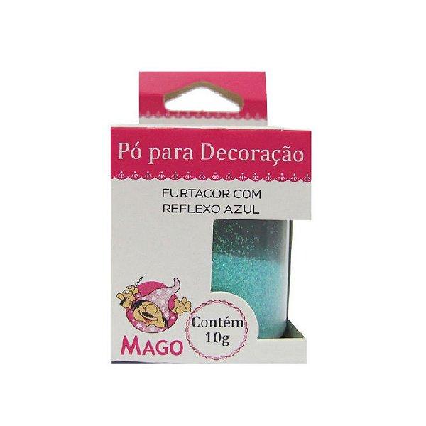 PÓ PARA DECORAÇÃO FURTACOR COM REFLEXO AZUL 10G - 01 UNIDADE - MAGO
