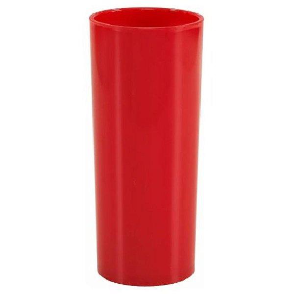 COPO LONG DRINK VERMELHO DE 360ML - 01 UNIDADE - DESCARFEST