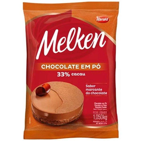 CHOCOLATE  MELKEN EM PÓ 33% CACAU - 1,05KG - HARALD