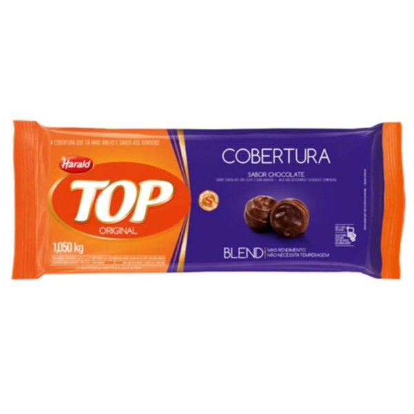 COBERTURA CHOCOLATE BLEND TOP HARALD BARRA 1,05KG - HARALD