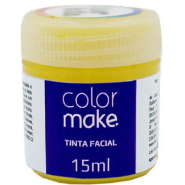 TINTA FACIAL 15ML AMARELO - COLOR MAKE