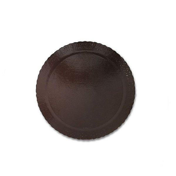 BASE PARA BOLO CAKE BOARD REDONDO MARROM 24 CM - ULTRAFEST