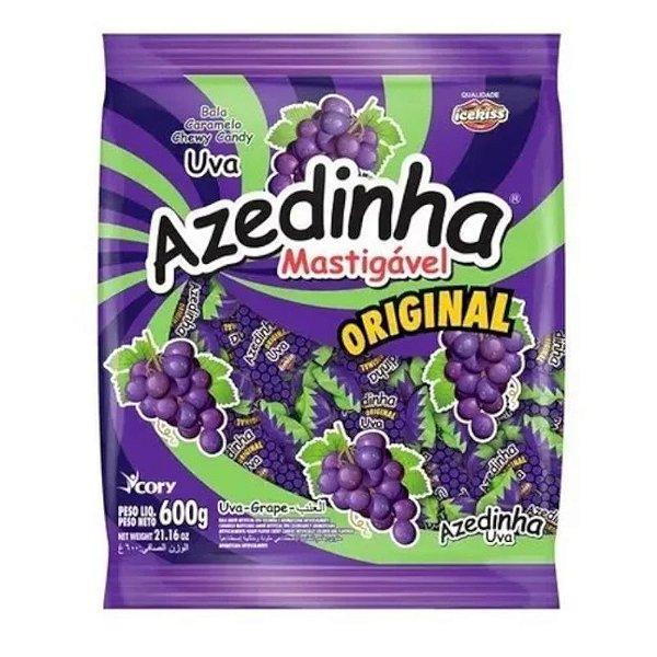 BALA MASTIGÁVEL AZEDINHA UVA ICE KISS 600G - CORY