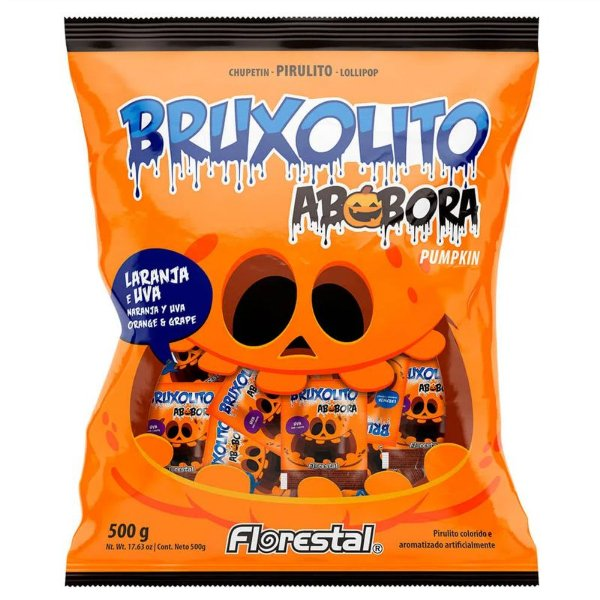 PIRULITO BRUXOLITO ABÓBORA 500G - FLORESTAL
