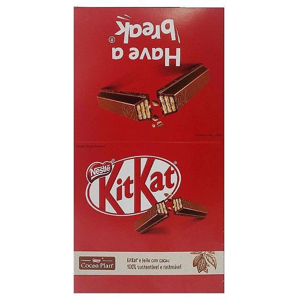 CHOCOLATE KIT KAT AO LEITE 41,5G COM 24 UNIDADES - NESTLÉ KITKAT