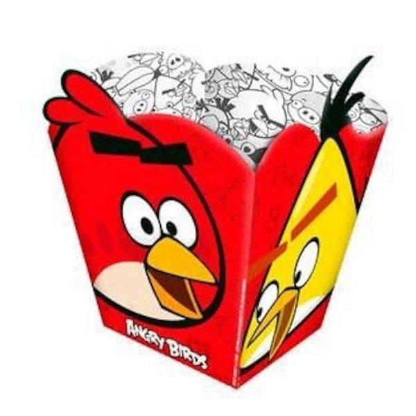 CACHEPOT PARA DOCES E SALGADOS FESTA ANGRY BIRDS - 08 UNIDADES - REGINA FESTAS