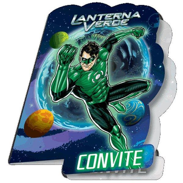 CONVITE FESTA LANTERNA VERDE - 08 UNIDADES - FESTCOLOR