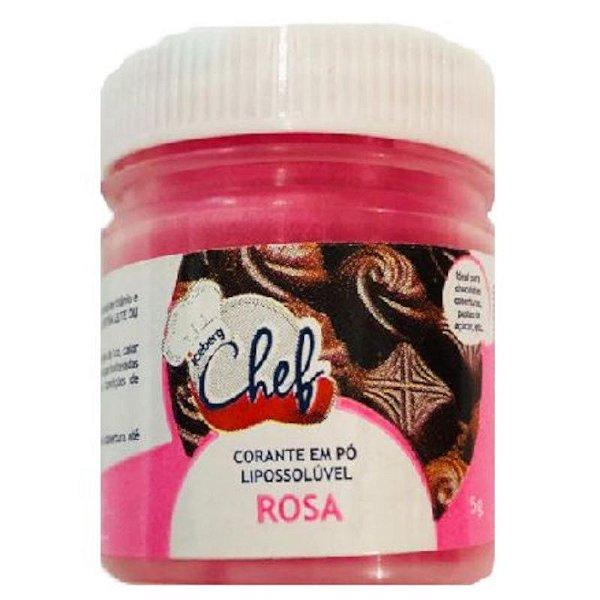 CORANTE EM PÓ LIPOSSOLÚVEL ROSA 5G - ICEBERG CHEF