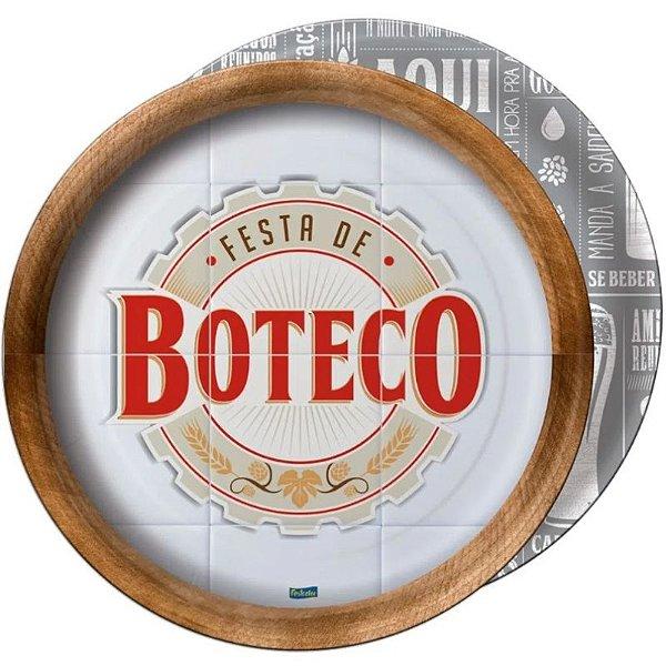 PRATO DESCARTÁVEL FESTA BOTECO - CONTÉM 08 UNIDADES - FESTCOLOR
