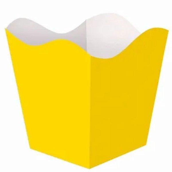 CACHEPÔ MÉDIO AMARELO - 6,5 X 6,5 X 9 CM - COD 2276/02 - CONTÉM 08 UNIDADES - KAIXOTE