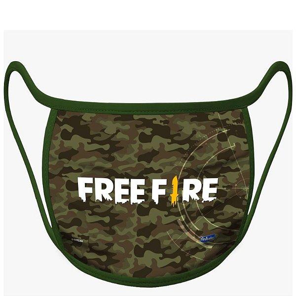 MÁSCARA DE PROTEÇÃO FREE FIRE - COM 01 UNIDADE - FESTCOLOR