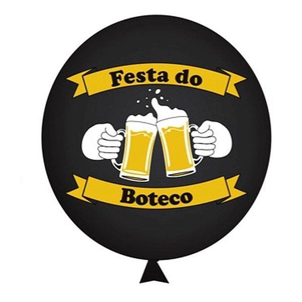 BALÃO DE LÁTEX FESTA DO BOTECO Nº 11 (28CM) - 25 UNIDADES - HAPPY DAY