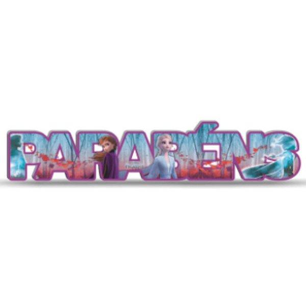 ENFEITE  PARABÉNS FESTA  FROZEN 2 - REF 310016 - 01 UNIDADE - PIFFER