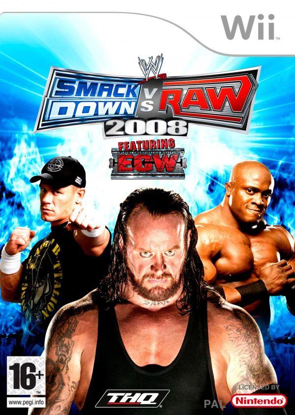 Jogo WWE Smackdown VS Raw 2008 - Wii - Seminovo