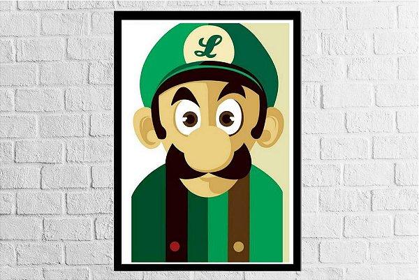 Pôster Emoldurado Luigi - Meu Game Barato