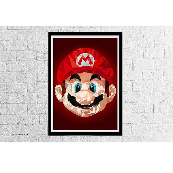 Pôster Emoldurado Mario Rosto - Meu Game Barato