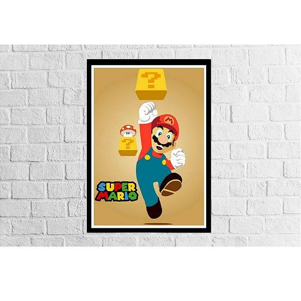 Pôster Emoldurado Super Mario - Meu Game Barato