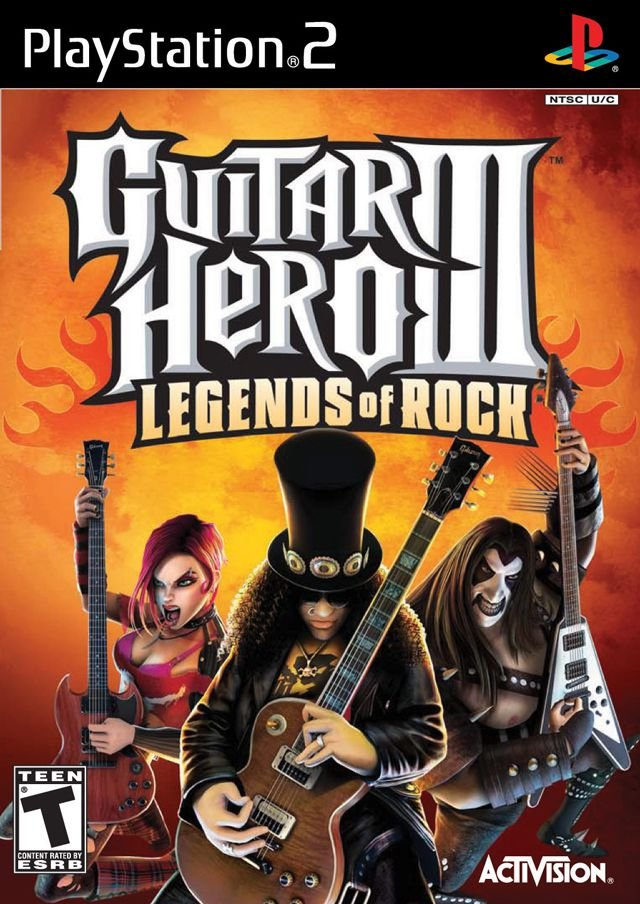 Jogo Guitar Hero 3 Legends of Rock [Japonês] - PS2 - Seminovo