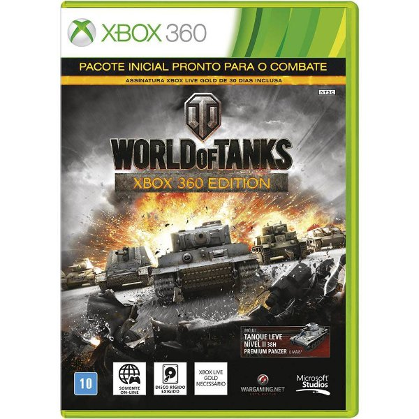Jogo World Of Tanks Xbox 360 Edition - Xbox 360 - Seminovo