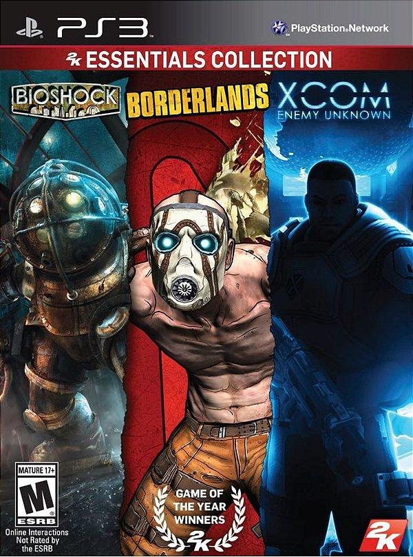 2K Essentials Collection Bioshock, Borderlands, Xcom - PS3 - Seminovo
