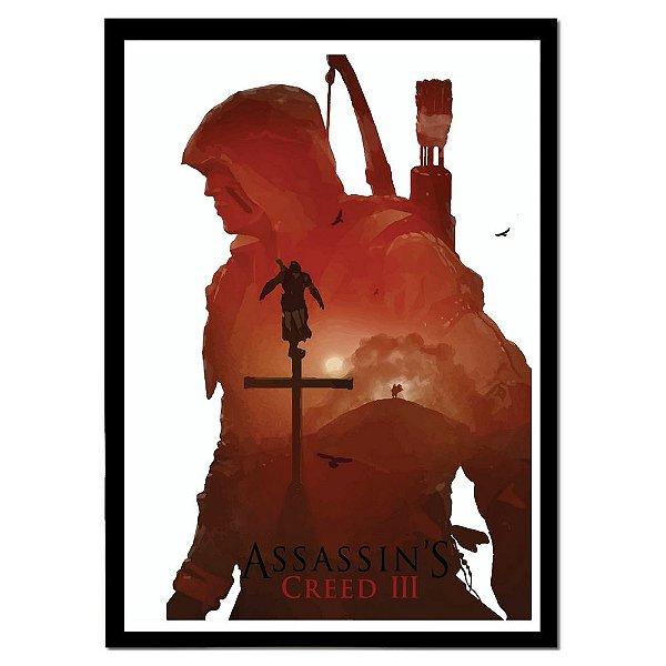 Pôster Emoldurado Assassin's Creed 3 - Meu Game Barato